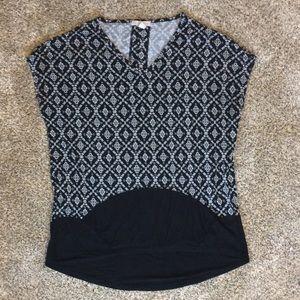 Dress Barn Black & White Tunic